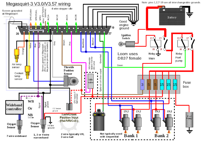 Msacc. Ms3 V3 Wiring Diagram. Wiring. One Wire Wiring Temp Probe At Scoala.co